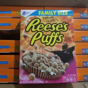 Travis Scott X Reeses Puffs Cereal Family Size